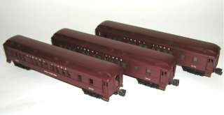 Postwar Set Madison Heavyweights 2625 2627 2628 Passenger Cars