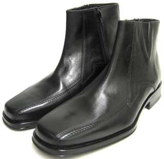 Johnston Murphy Mens Shoes Black Leather Zip Boots 10.5 M