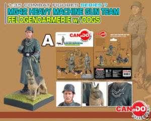 Dragon Can.Do 135 MG42 Machine Gun Team Dogs Set of 4