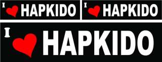 LOVE HAPKIDO bumper windows stickers decals