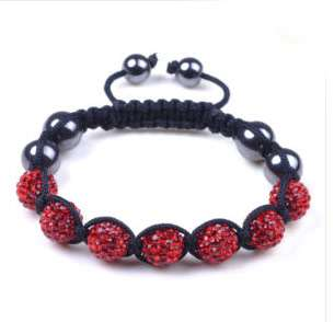 Pave 7 Crystal Disco Ball Beads Shamballa Bracelet Christmas Gift