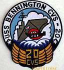 USS BENNINGTON CVS20 AIRCRAFT CARRIER US NAVY PATCH