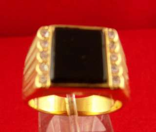 ELEGANT is the word to describe this STYLISH Mens Black ONYX Ring