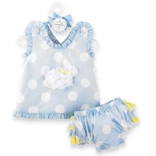 Baby Girl Little Bunny Pinafore Dress Bloomer Outfit 718540110652