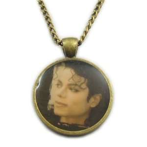 Bronze Tone Michael Jackson Necklace Pendant 15 Arts