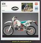 1992 ktm gs 300 tvc motorcycle dirt bike picture card