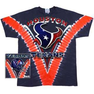 Houston Texans   Logo V Dye Tie Dye T Shirt   2X Large