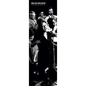 Billie Holiday (Lady Sings the Blues) Gold Wood Mounted Music Poster