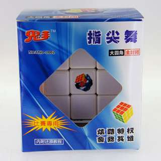 Ghost Hand 3x3x3 White Speed Rubik Cube G1 + Soft Pouch