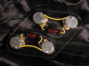Wiring Harness for Les Paul   Gibson Pots, Luxe Black Beauty PIO