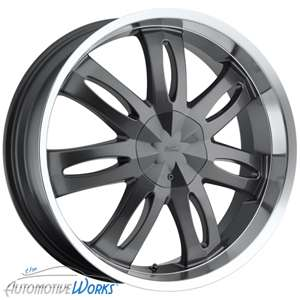 20x8 Milanni Witchy 5x110 5x115 +38mm Gun Metal Wheels Rims Inch 20