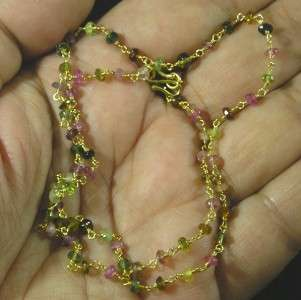 Vermeil Gold on .925 Sterling Silver Faceted Multi Tourmaline Gemstone