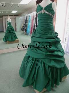 13287 emerald Size 8 GIRLS NATIONAL PAGEANT DRESS WINNING GOWN