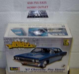 REVELL 85 4923 1967 CHEVELLE PRO STREET Model Kit APRIL GMS CUSTOMS