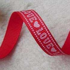 9mm mixed love letter valentine Grosgrain RIBBON lot bow 50 yard