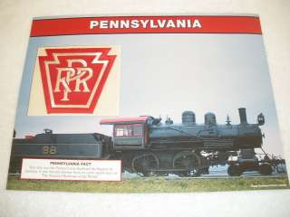 PENNSYLVANIA LINE PRR Train Railroad Railway PATCH SHEET Willabee
