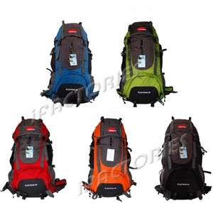 DK 60L Canvas Outdoor Rucksack Camping Travel Backpack Mountaineering
