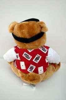 Bull Dog Poker Card Dealer Las Vegas Plush Stuffed Vest