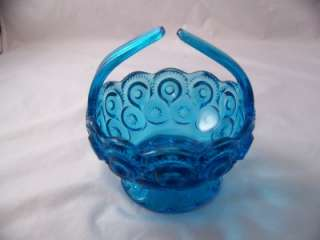 COMPANY MOON AND STAR COLONIAL BLUE SPLIT HANDLE BASKET # 6222