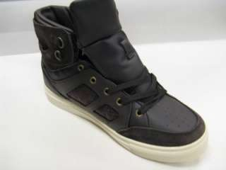 Mens Rocawear Dark Brown High Top Sneakers ROC OUT 1102 58