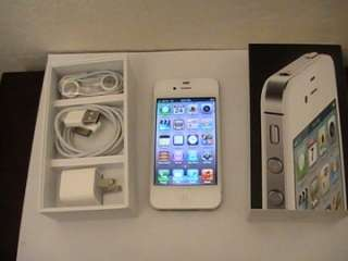 SPRINT Apple iPhonE 4 8GB WHITE VERY GOOD NO CONTRACT WARRANTY 1019