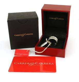 CARRERA Y CARRERA 18K WHITE GOLD HORSE STALLION RING NWT BOX CERT