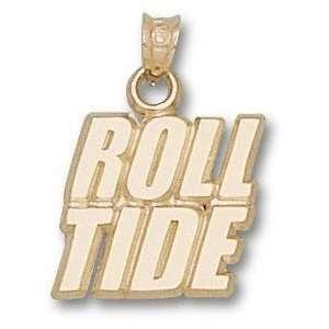 Alabama Crimson Tide Solid 10K Gold ROLL TIDE Pendant