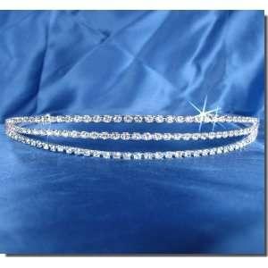 Bridal Wedding Tiara Crown With Three Row Crystals 14616