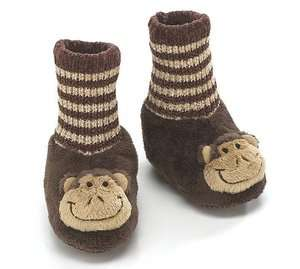 Infant Toddler Baby KoKo Monkey Animal Plush Slipper Brown House Shoe