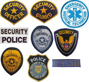 Law Enforcement SECURITY/OFFICER Emboirdered PATCHES