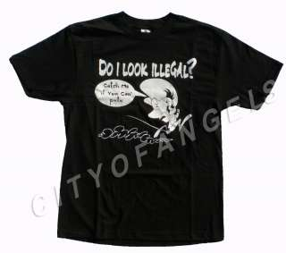 Mens Funny T Shirt Do I Look Illegal 2XL 3XL catch me Speedy Gonzales