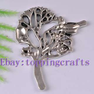 FREE SHIP 10pcs Tibetan Silver Tree Bird Charms TP5738