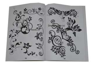 Tattoo Flash Book A4   Tribal Flowers/Dragons/Koi/Animals Vol.1