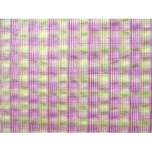 32115 G Cotton Shirting Yellow & Pink Plaid: Home