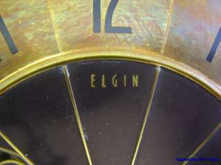 Mid Century Modern Elgin Sunburst Wall Clock