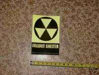 Fallout shelter sign for expedient shelters (7x10)