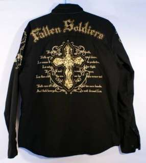 Fallen Soldiers Akcess Urban Hip Hop Shirt Mens Large