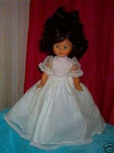 FURGA ITALY BRUNETTE BLUE EYED DOLL VINYL SOLD AS IS