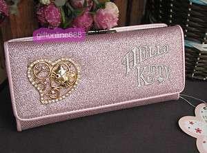 Hello kitty shine coin card purse long wallet bag #9P