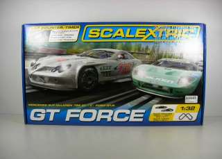 Scalextric GT FORCE Race Slot Car Track Set 132 Scale Mercedes VS
