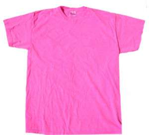Neon PINK Bright Colorful Adult Tee Shirt T Shirt