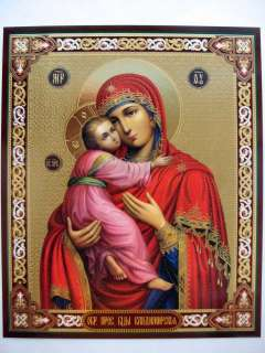 THEOTOKOS Our Lady of Vladimir HOLY VIRGIN MARY Orthodox Icon Mother