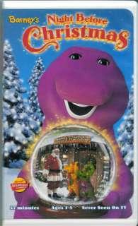 BARNEY Dinosaur BARNEYS NIGHT BEFORE CHRISTMAS VHS