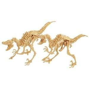 VELOCIRAPTOR WOODCRAFT KIT by Safari, Ltd. Toys & Games