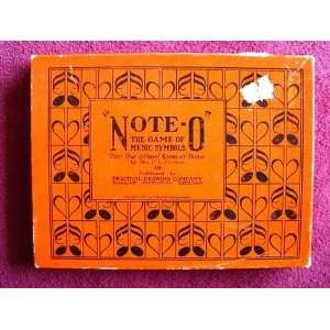 Note o, the Game of Music Symbols for the School Room or Home By Mrs