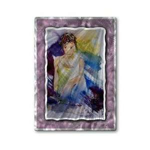 : All My Walls POL00180 Woman Alone Hanging Metal Art: Home & Kitchen