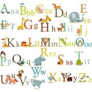 Animals Alphabet Baby Nursery Peel & Stick Wall Sticker