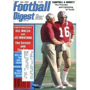 Bill Walsh & Joe Montana/San Francisco 49ers on Cover, Tony Dorsett