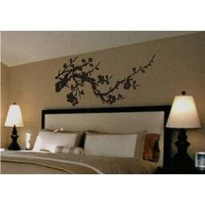 Japanese Cherry Blossom Branch Vinyl Wall Art Decal