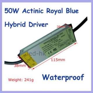 1pc 50W Actinic Royal Blue Hybrid Led for Aquarium Lamp + Waterproof
